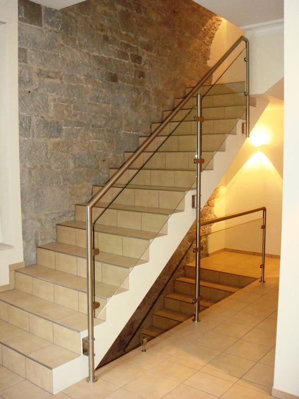 treppengel nder mit glas 1074 metallbau tangemann metallbau idee treppe gel 228 nder. Black Bedroom Furniture Sets. Home Design Ideas