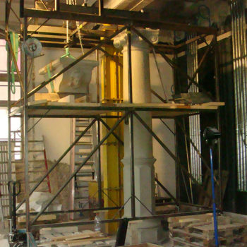 Montagewagen für Steinmetz Landesmuseeum